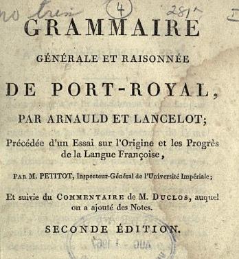 Port-Royal Grammar