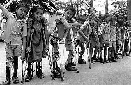 Erradicación de la poliomielitis.