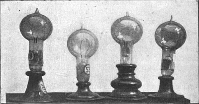 The invention of the electric light