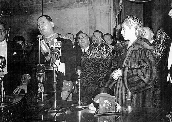 Perón comienza su segunda presidencia
