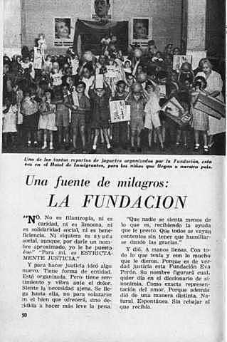 Se creación la Fundación Eva Perón