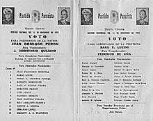 Se postula la fórmula Perón-Perón