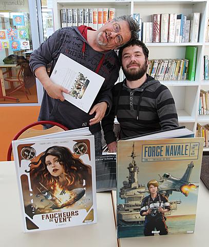 Rencontre avec les auteurs de BD Cédric Fernandez et Thierry Lamy.
