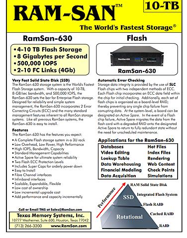 10TB RamSan-630 SSD by Texas Memory Systems