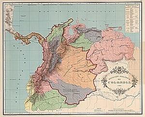 1830: Se disuelve la gran Colombia