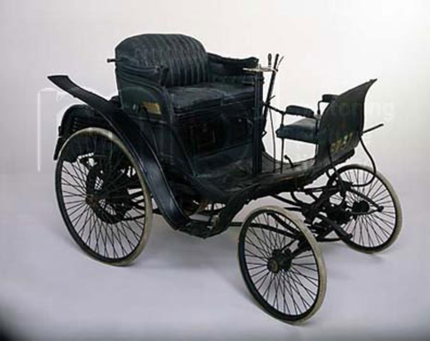 Karl Benz' patents the first gas powered car.