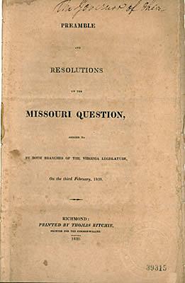 1820: Compromiso de Missouri