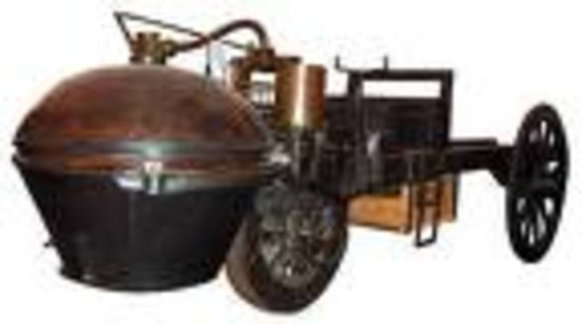 The first self propelled car is invented