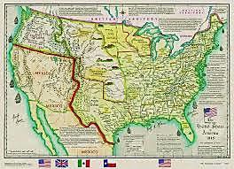 1848: Anexión de Texas y California