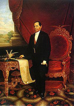 1858: Benito Juárez es presidente de Mexico