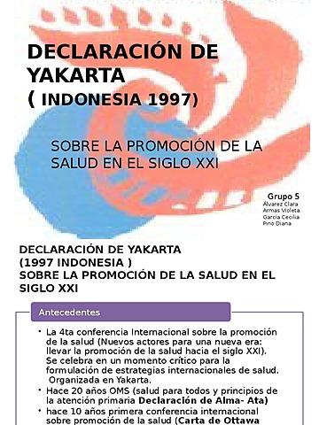Yacarta, 1997