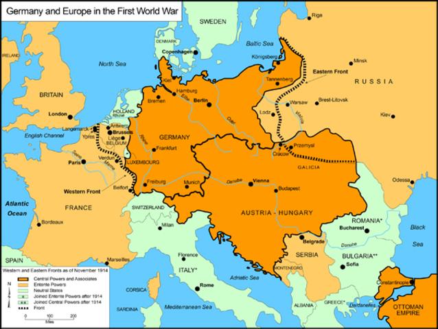 Alemania invade a Bélgica. Comienza la Guerra