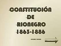 1863: Constitución de Río negro