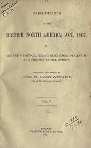 1867: Acta de América del Norte Británica