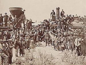1869: Primer Ferrocarril transcontinental de estados unidos