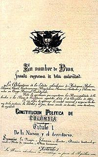 1886: Constitución política