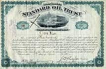 The Organization of Standard Oil Trust year