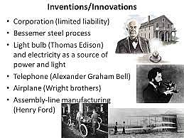 what year were The invention of the electric light, telephone and plane.