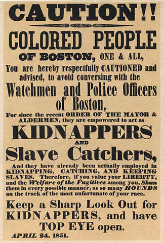 Fugitive Slave Law Sets us Back