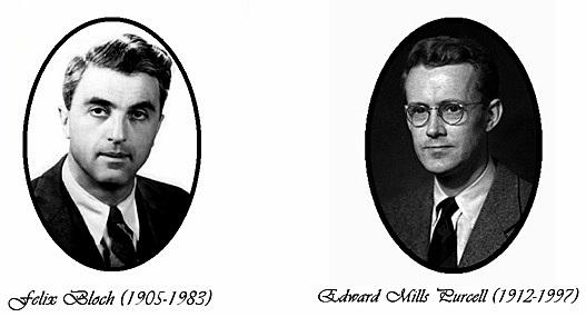 FELIX BLOCH Y EDWAR M. PURCELL- LOGRAN MEDIR LA RESONANCIA MAGNÉTICA EN MATERIA CONDENSADA
