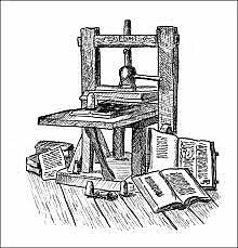 (Spirits) Printing press in Europe