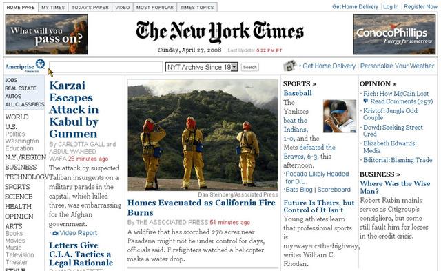 The New York Times cambia a un modelo de suscripción pagada para su versión online