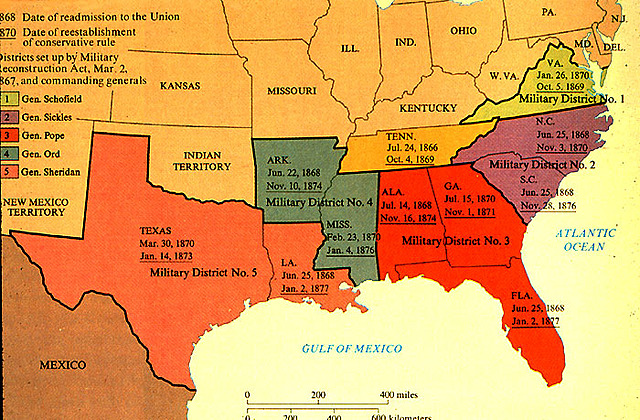 Southern states elect former Confederates to public office at the state and national levels, drag their feet in ratifying the Thirteenth Amendment, and refuse to extend the vote to black men.