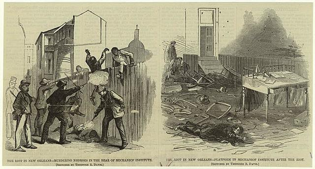 Riots break out in New Orleans, Louisiana