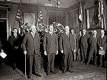 Grant resigns his position as interim Secretary of War after Congress insists upon Stanton's reinstatement.