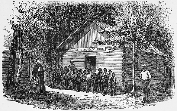 The Freedmen's Bureau tallies nearly 3,000 schools, serving over 150,000 students, in the South