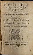Earliest witness to Greek math is Euclid's Elements.