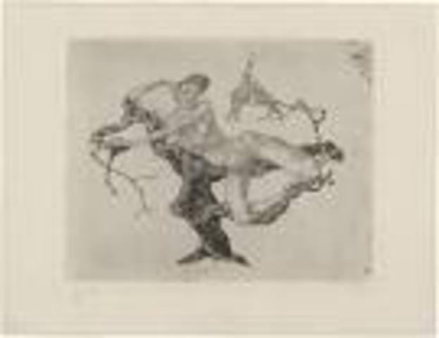 Paul Klee etched VIRGIN IN A TREE