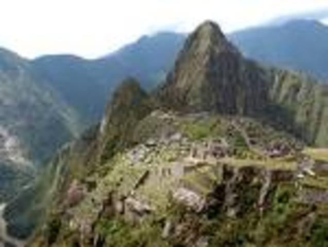 First picture of Machu Picchu