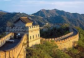 Kineserne bygger den kinesiske mur