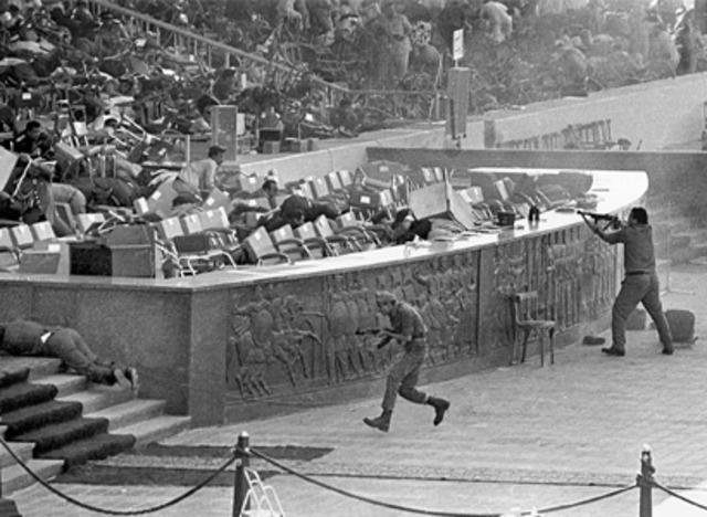 President Anwar El Sadat is assinated