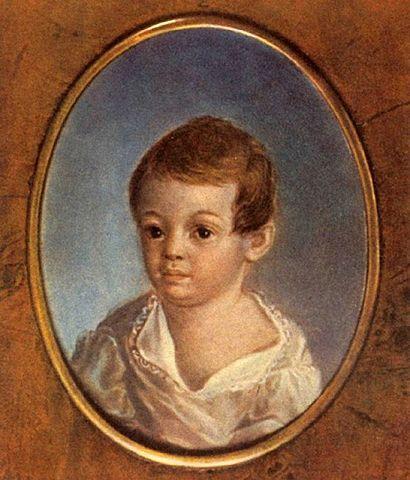 """Ксавье де Местр (1763-1852) """"Пушкин-ребёнок"""""""