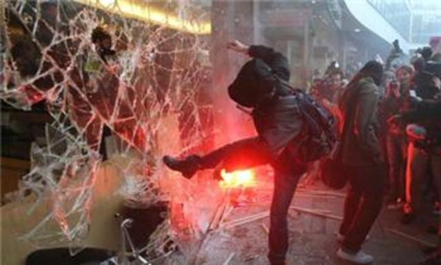 Protests over student fees turn violent