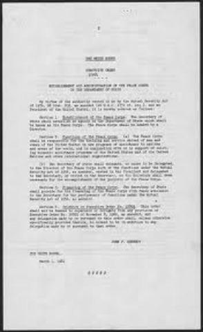 JFK's Executive Orders
