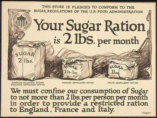 (Coca Cola) Sugar rationing