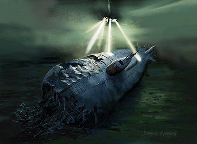 Se hunde el submarino nuclear USS Thresher