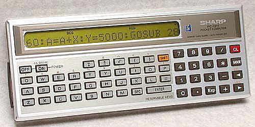 Computadora de bolsillo Sharp PC-1211