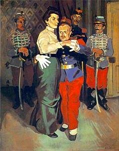 Fauvismo: Baile de soldados en Suresenes (André Derain)