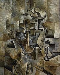 Cubismo: Violin y Jarra (Georges Brake)
