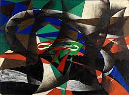 Futurismo: Manifestación patriótica (Giacomo Balla)