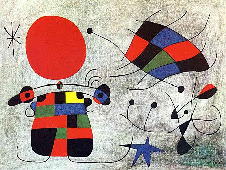 Surrealismo: Sonrisa de Alas Flameantes (Joan Miró)