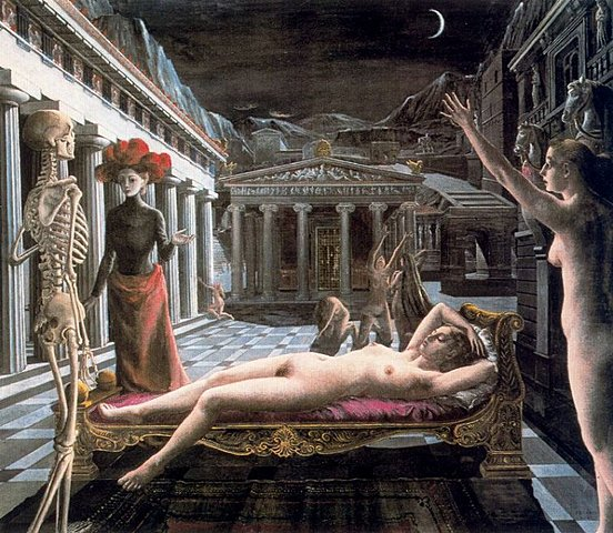 Surrealismo: La venus dormida (Paul Delvaux)