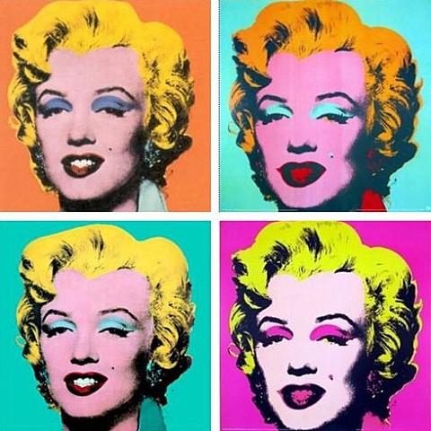 Nueva representación: serie Marilyn - Pop Art (Andy Warhol)
