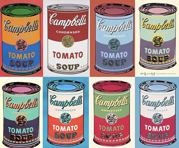 Nueva representación: Campbells - Pop Art (Andy Warhol)