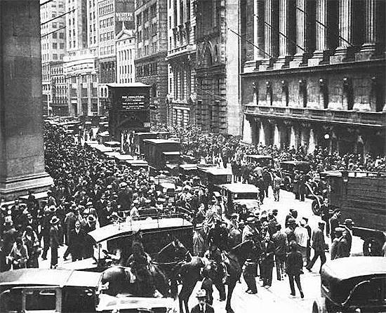 La caída de Wall Street