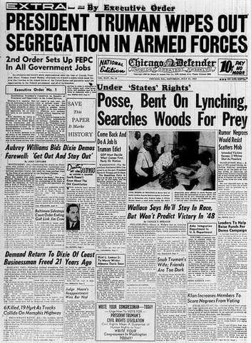 Truman's Exectutive Orders; 1948